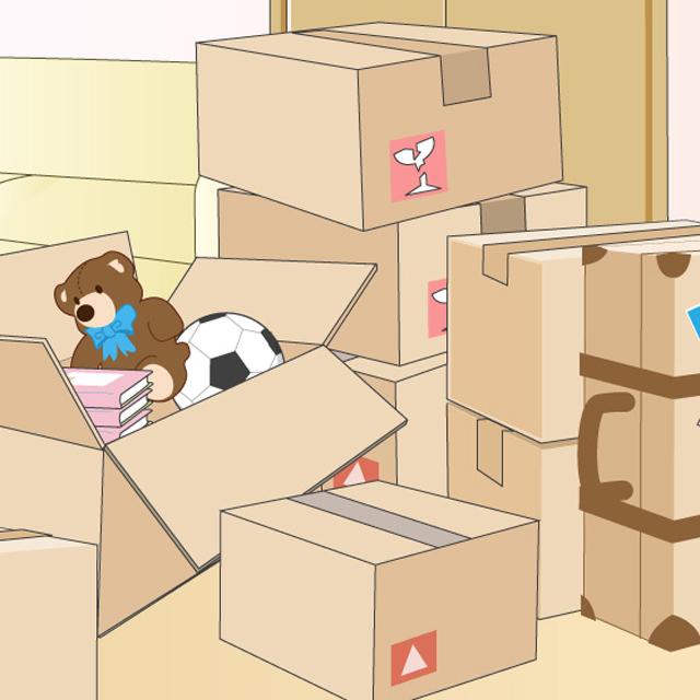 荷造りは分類と順番が要